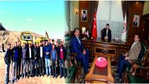 Belediye Başkanı Kılıçdağı ve Ak Parti İlçe Başkanı Çağrı Balcı Vali Salih Ayhan'ı Ziyaret Ettiler