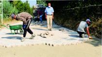 Eğerci'de Kilitparke Döşeme Çalışmaları Sürüyor