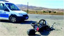 Minibüsle Çarpışan Motosikletin Sürücüsü Ağır Yaralandı